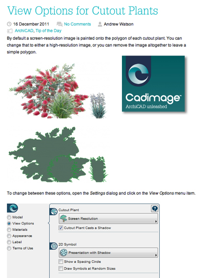 CADImage Blog for ArchiCAD