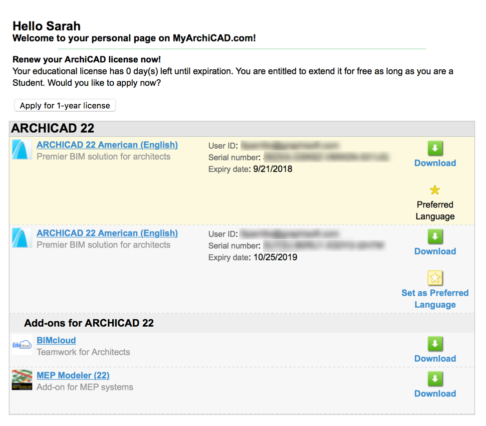 Renewing Your ARCHICAD Educational License - GRAPHISOFT Community