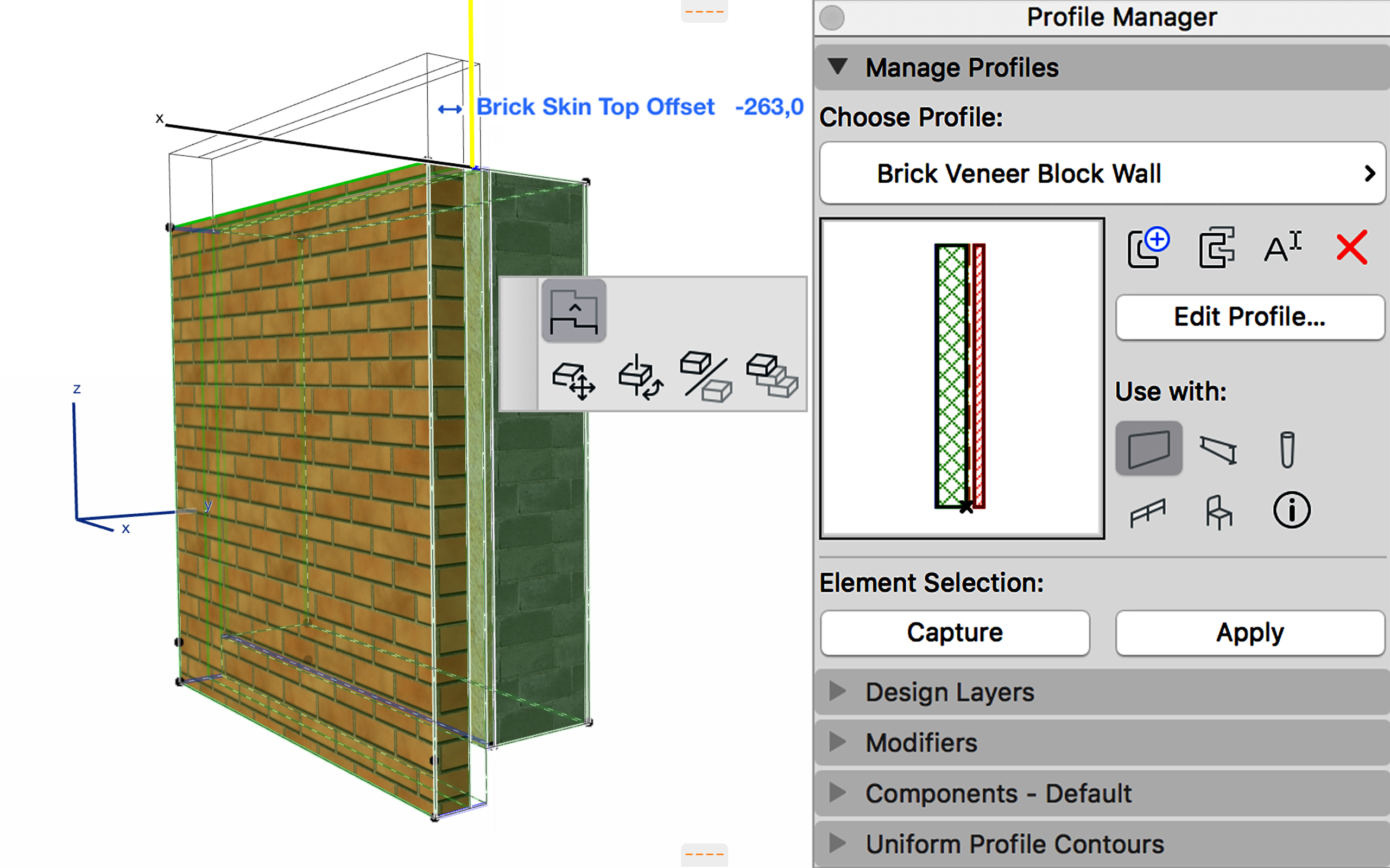 AC22-Parametric_Profiles_Profiles_Wall with Brick Skin Offset1