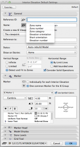 ArchiCAD Autotext Options