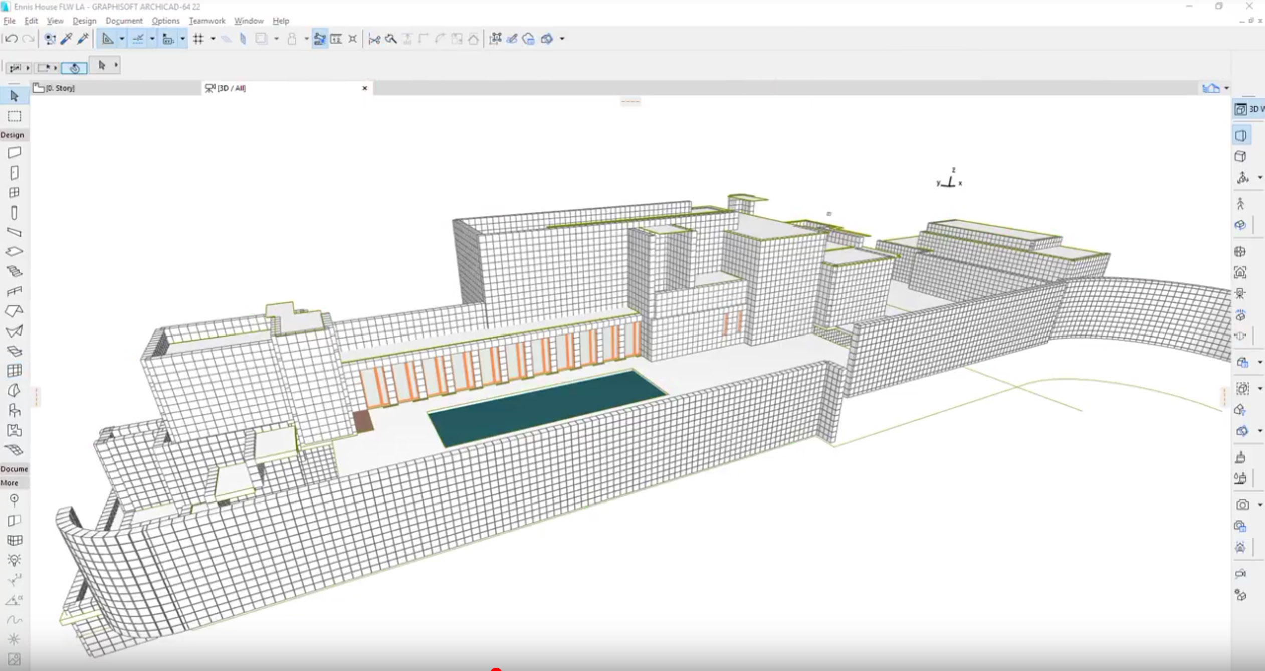 Classics Modeled in ARCHICAD – Frank Lloyd Wright's Ennis House