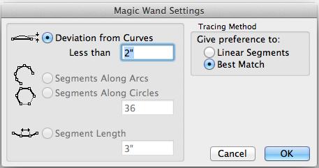 Magic Wand Settings