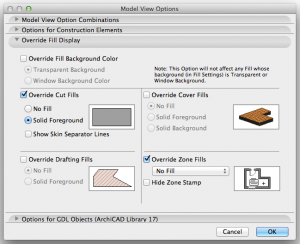 archicad model view options