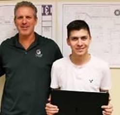 Oscar Visencio 1st place Steve Spyksra Hamilton High School