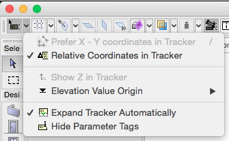 Relative Coordinates in Tracker
