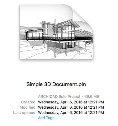 Simple 3D document