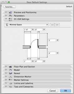 ArchiCAD minimal space