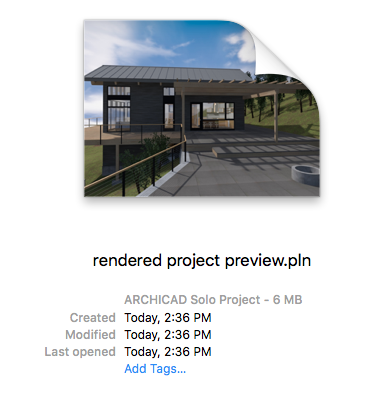 rendered project preview