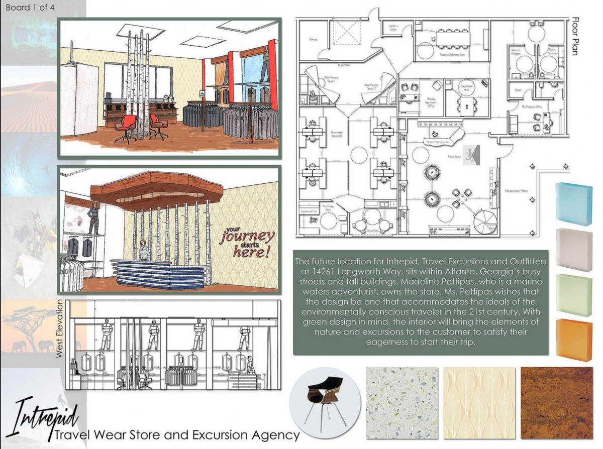 Student driven design exellence bim engine by archicad for Interior design portfolio examples